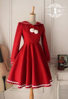 Sweet Long Sleeves Lolita OP Dress With Hood