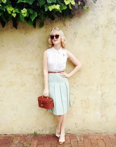 pleated skirt -  The Vintage Valley: For The Love Of Mint...