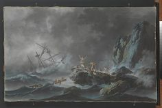 Jean Pillement | A Shipwreck in a Storm | The Met