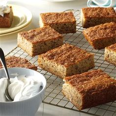 Banana Squares Recipe from Taste of Home