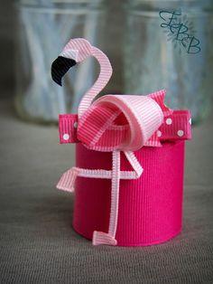 Flamingo cinta escultura pinza de pelo, arco del pelo de aves, animales de zoológico, uno 1