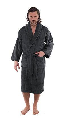 Luxury Terry Cloth Hotel Bathrobe - Premium Turkish Cotton Robe for Men 397af4d1a