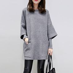 Women's+Casual/Daily+/+Party/Cocktail+Vintage+/+Street+chic+Sheath+Dress,Jacquard+Round+Neck+Above+Knee+¾+Sleeve+Red+Rayon+/+PolyesterAll+–+USD+$+17.99