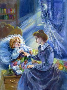 ilustración de  Анікіна Наталія Night Time, Good Night, Good Morning, Book People, Cool Art, Nice Art, Illustrators, Disney Characters, Fictional Characters