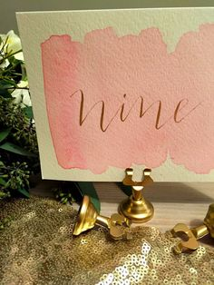 Gold place card and table number holders 10 by ShotgunningForLove
