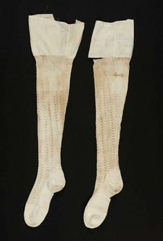 1800s stockings | Early 19th century, America - Stockings - Cotton knit