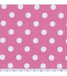 Keepsake Calico Fabric-Large Dots On Rose Pink, , hi-res
