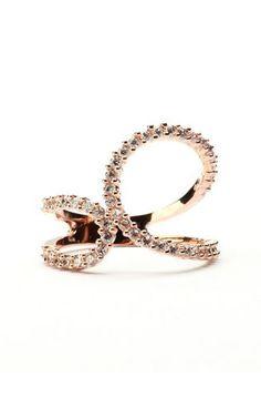 Crystal Wrap Around Rose Gold Ring