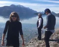 No glitter? The 25-year-old ditched her stage costumes for a pair of navy tracksuit bottoms. Taylor's image featured a picture-perfect landscape of snow-capped mountains. The Shake It Off singer captioned the down-to-earth image 'Swift family road trip,' and tagged the location South Island, New Zealand. She again took to social media to share a video of her walking along with the coastline whilst beaming contentedly.