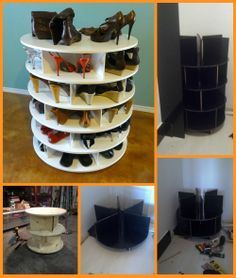 Storing and finding the pairs you need is made easy with this DIY rotating shoe rack. You can make your own by viewing the full album of the project at http://theownerbuildernetwork.co/kxxg Does your home need a better shoe storage system?