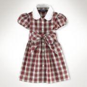 INFANT GIRLS Belted Plaid Shirtdress