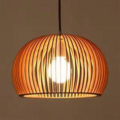 Round Wood Pendant light Dining room Lighting Fixture minimalist ...