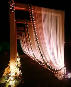 13 Wedding Entrance Decor Ideas That You Need To Save And Show to Your Decorator! - ShaadiWish wedding decorations 13 Wedding Entrance Decor Ideas That You Need To Save And Show to Your Decorator! Rustic Wedding Backdrops, Wedding Reception Backdrop, Wedding Mandap, Wedding Ceremony, Wedding Church, Table Wedding, Party Wedding, Wedding Bride, Wedding Walkway