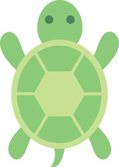 Free clip art of a cute little green turtle Arts And Crafts For Adults, Fun Arts And Crafts, Arts And Crafts House, Arts And Crafts Projects, Crafts For Kids, Cute Turtles, Baby Turtles, Turtle Baby, Sea Turtles