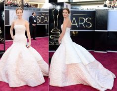 A Duo Dior dress. Jennifer Lawrence's dress was perfect