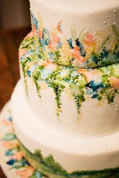 Cake: Paradox Pastry - http://www.stylemepretty.com/portfolio/paradox-pastry Photography: Adam Barnes Fine Art Photography - http://www.stylemepretty.com/portfolio/adam-barnes-fine-art-photography-2   Read More on SMP: http://www.stylemepretty.com/2015/01/29/french-blue-peach-southern-farm-wedding/