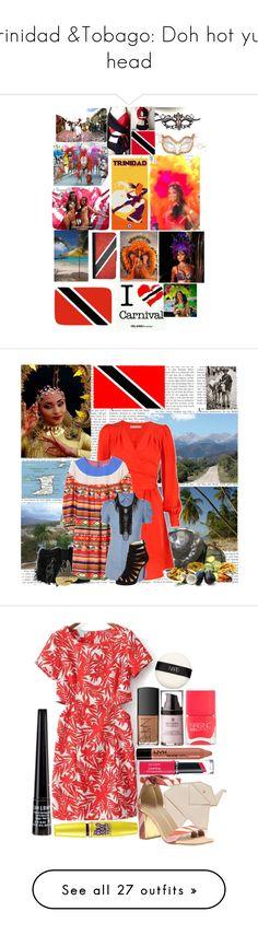 """Trinidad &Tobago: Doh hot yuh head"" by rivlyb ❤ liked on Polyvore featuring Masquerade, Nicki Minaj, Hot Anatomy, CellPowerCases, CO, Kookaï, Yves Saint Laurent, Eley Kishimoto, Dsquared2 and Christian Louboutin"