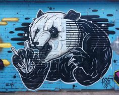 Visiting Artists of 2017: #7 -- This month we're highlighting some of the amazing artists we've supported with walls this year! -- Our 7th pick is the work of @thisones_art! -- If you live or work around East London we're sure you would have seen his artwork! We're loving this Panda with chopsticks!      -- #globalstreetart #streetart #art #urbanart #wallart #streetartistry #streetarteverywhere #panda