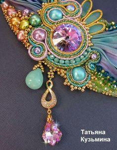 Ribbon Jewelry, Soutache Jewelry, Beadwork, Beading, Shibori, Beaded Embroidery, Silk, Decoration, Crafts