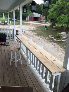65 Stunning Farmhouse Porch Railing Decor Ideas - Page 34 of 65 - Abidah Decor Deck Railing Ideas Cheap, Deck Railing Design, Deck Railings, Deck Design, Inexpensive Deck Ideas, Unique Deck Ideas, Front Porch Railings, Porch Handrail Ideas, Glass Deck Railing