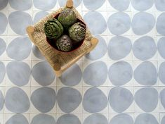 Stone : Beautiful handmade concrete tiles designed by Stockholm based architecture and design firm Claesson Koivisto Rune for Marrakech Design.