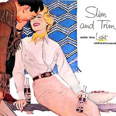 Detail Of Pepsi-Cola Slim And Trim Girl Pepsi - www.MadMenArt.com | Pepsi-Cola is more than a brand or a logo. Mad Men Art presents more than 60 vintage Pepsi ads. #PepsiCola #Pepsi #Cola #VintageAds
