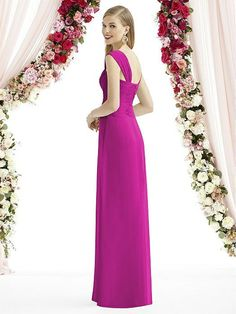 Full length one shoulder lux chiffon dress has asymmetrical draped bodice and shirred skirt detail. This style is Special Order and ships in weeks. Champagne Bridesmaid Dresses, One Shoulder Bridesmaid Dresses, Bridesmaids, Strapless Sweetheart Neckline, Ladies Dress Design, Formal Dresses, Wedding Dresses, Chiffon Dress, Bodice