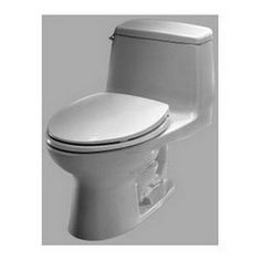 Toto Ultimate Elongated 1 Piece Toilet in Colonial White. Available in 3 additional finishes. #madeinamerica