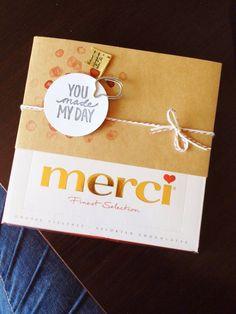 Heute möchte ich euch eine einfache Verschönerung einer Merci-Verpackung vorstellen. Doch vorweg möchte ich euch erklären, welche Material...