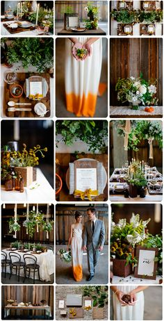 Sustainable doesn't mean drab! Beautiful colors in this Organic + Sustainable Wedding Inspiration
