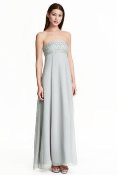Beaded chiffon maxi dress