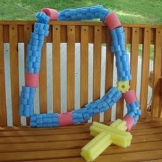 Amazing and funny ideas for those clearance pool noodles after the summer! (The giant rosary made me laugh!)