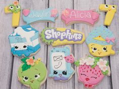 shopkins birthday cookies | shopkins cookies | Cookie Connection