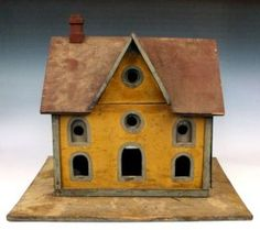 I found this on a doll house board - but I suspect that it was a bird house~ swallow?