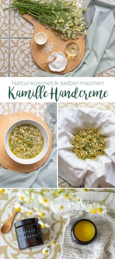 Make natural cosmetics yourself: chamomile flower hand cream - Leelah Loves - Recipe for a simple hand cream with collected chamomile flowers and beeswax as homemade natural cos - The Body Shop, Make Natural, Diy Beauté, Crafts For Teens To Make, Kids Crafts, Presents For Her, Makeup For Teens, Natural Cosmetics, Hand Cream