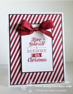 I agree with Amy - this is a great CASE! Have to make something like this for my group, too!! Merry Little Christmas