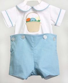 899c85166e62 Easter Bunny Romper for Boy, Babys First Easter, Boys Easter Outfit, Baby  Boy Easter Outfit 293336