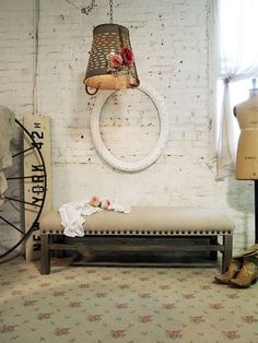 Painted Cottage Romantic Shabby Upholstered by paintedcottages, $395.00