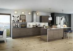 jpeg pixels Nice Brokhult kitchen design from petraathome Cottage Kitchen Plans, Loft Kitchen, Kitchen Reno, Home Decor Kitchen, New Kitchen, Vintage Kitchen, Kitchen Dining, Kitchen Remodel, Black Kitchens