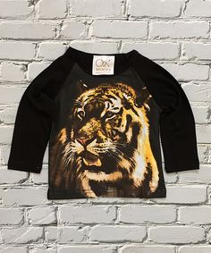 Look at this Little Mr. Hipster Black & Gold Tiger Raglan Tee - Infant & Toddler on #zulily today!
