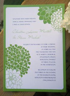 Wedding Invitation Set Sample Sweet Hydrangea by designedbymere