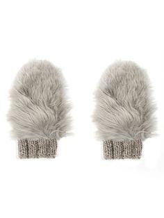 Fur Mittens knitting pattern. Genuine alpaca fur mittens.