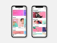 iphone x ui mobile app ile ilgili görsel sonucu Ios App Design, Web Design, Mobile Ui Design, User Interface Design, Layout Design, Ui Design Tutorial, Iphone Ui, App Log, Music App