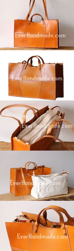 Handmade Leather handbag shopper bag for women leather shoulder