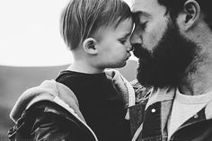 Beards and Babies.  Babies with their fathers, so cute!