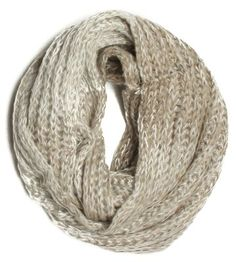 ForeverScarf Knitted Faded 2 Tone Infinity Loop Scarf, Khaki:Amazon:Clothing