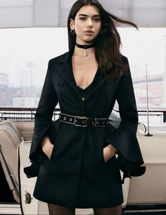Dua Lipa Dresses in Black for Patrizia Pepe's Fall 2017 Campaign