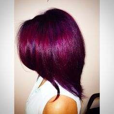 Magenta and violet fashion color using pravana vivids done by Brittany Leith at Shear Image hair salon in Woodbridge, va. 703)590-7447