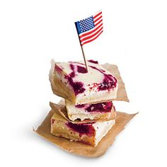 Fresh Cherry Cheesecake Bars - 4th of July Recipes - Cooking Light