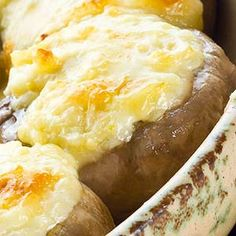 Atkins Roasted Portobello Mushroom Melts with Gruyere